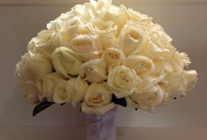 bridal bouquet, vandela rose, diamantes