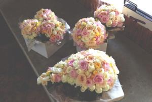 wedding bouquet, roses, mini rose